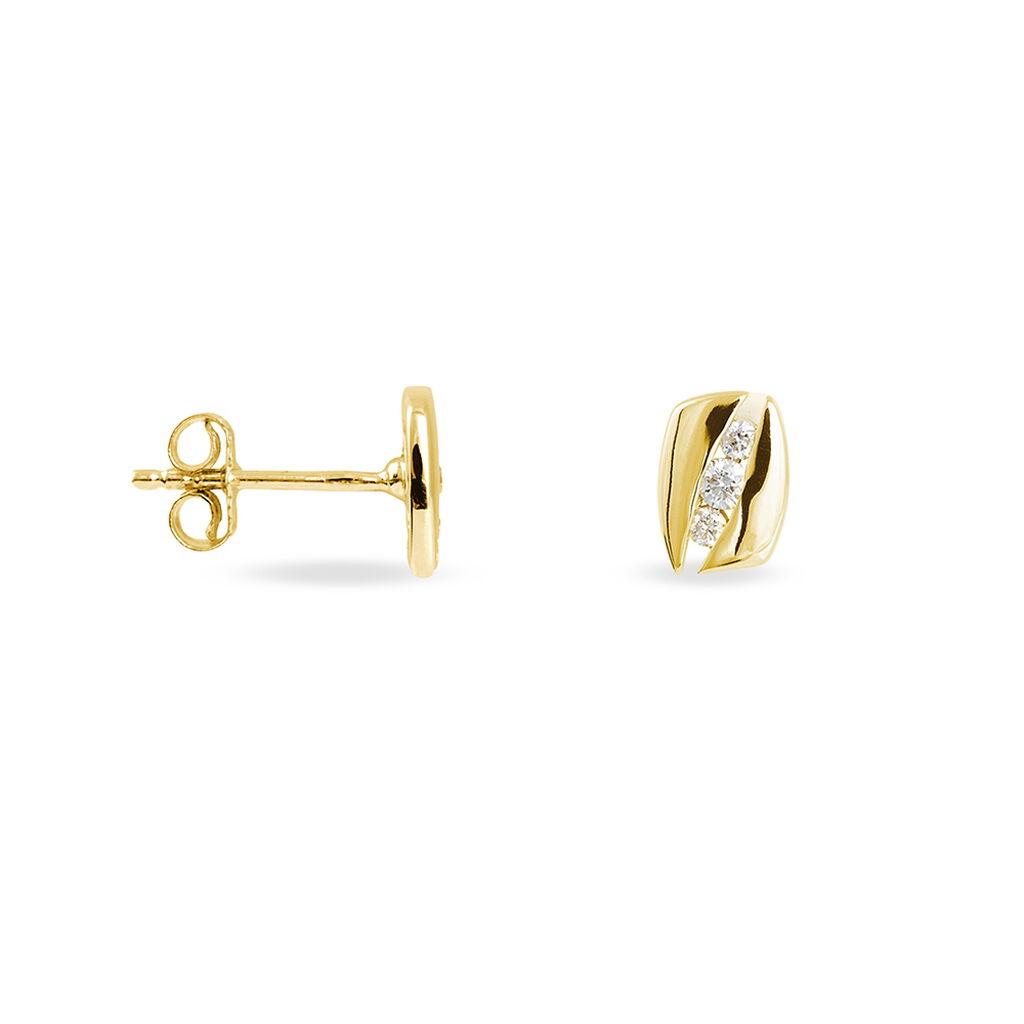 Boucles D'oreilles Puces Infinity Or Jaune Diamant - Boucles d'Oreilles Infini Femme | Histoire d'Or