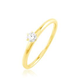 Bague Solitaire Natalia Or Jaune Diamant - Bagues solitaires Femme | Histoire d'Or