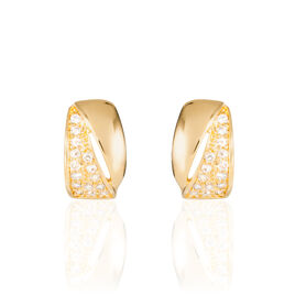 Boucles D'oreilles Puces Oliwia Plaque Or Jaune Oxyde De Zirconium - Boucles d'Oreilles Papillon Femme | Histoire d'Or