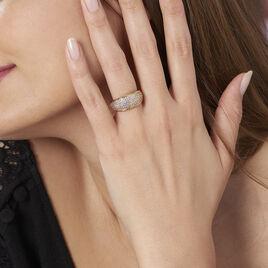 Bague Edenne Plaque Or Jaune Oxyde De Zirconium - Bagues avec pierre Femme | Histoire d'Or