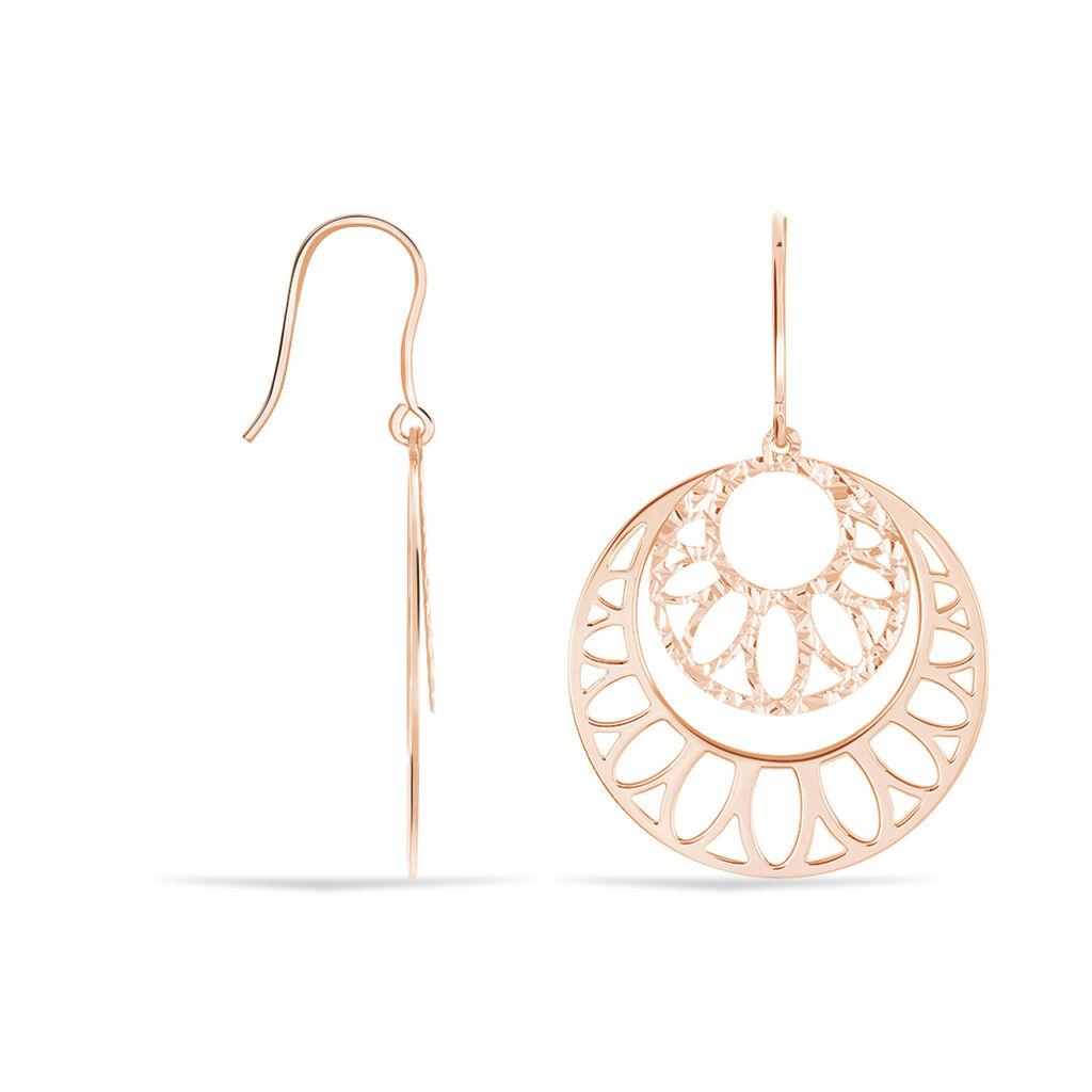Boucles D'oreilles Pendantes Slorane Argent Rose - Boucles d'oreilles fantaisie Femme   Histoire d'Or