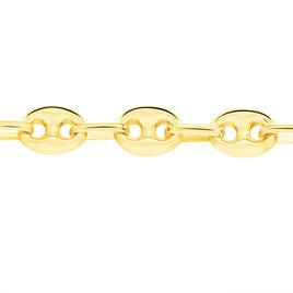 Collier Dami Maille Grain De Cafe Or Jaune - Chaines Homme | Histoire d'Or
