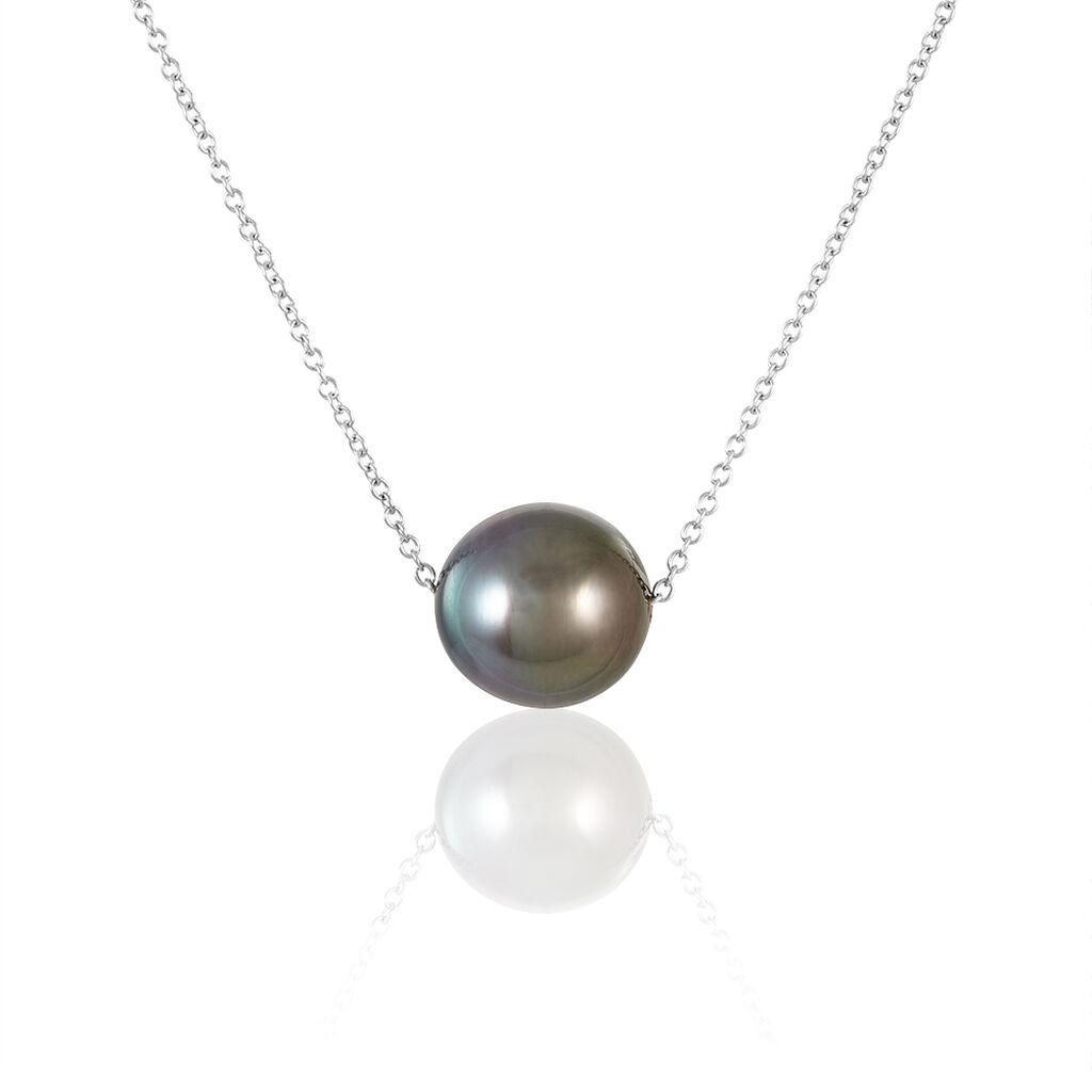 Collier Semi-baroque Or Blanc Perle De Culture De Tahiti - Bijoux Femme | Histoire d'Or