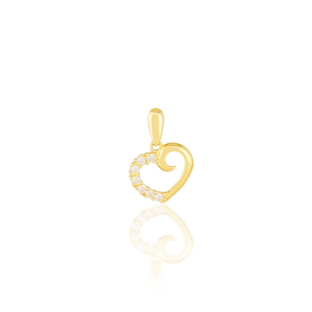 Pendentif Aereda Or Jaune Oxyde De Zirconium - Pendentifs Coeur Femme | Histoire d'Or