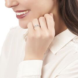 Bague Kassandre Argent Blanc Oxyde De Zirconium - Bagues avec pierre Femme | Histoire d'Or