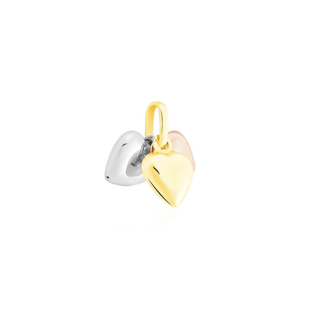 Pendentif Eudocie Triple Coeurs Or Tricolore - Pendentifs Coeur Femme | Histoire d'Or