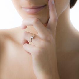 Bague Solitaire Moera Or Blanc Oxyde De Zirconium - Bagues Coeur Femme | Histoire d'Or