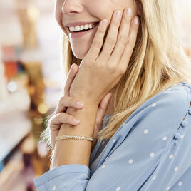 Bracelet Jerry Maille Corde 3 Rangs Or Bicolore Oxyde De Zirconium - Bijoux Femme | Histoire d'Or