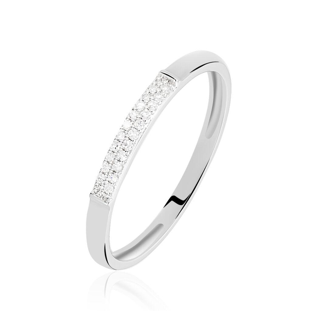Bague Amani Or Blanc Diamant - Bagues avec pierre Femme | Histoire d'Or