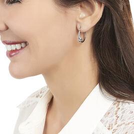 Créoles Bahar Argent Blanc - Boucles d'oreilles créoles Femme | Histoire d'Or