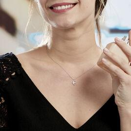 Collier Janea Argent Blanc Oxyde De Zirconium - Colliers fantaisie Femme | Histoire d'Or