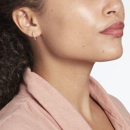 Créoles Cobledulitavus Argent Rhodié Oxyde De Zirconium - Boucles d'oreilles créoles Femme   Histoire d'Or