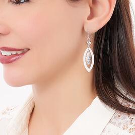 Boucles D'oreilles Pendantes Lucinda Argent Blanc - Boucles d'oreilles fantaisie Femme | Histoire d'Or