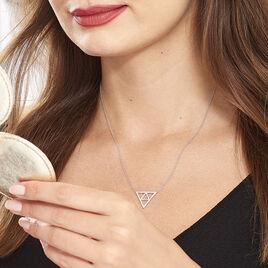 Collier Oriane Argent Blanc Oxyde De Zirconium - Colliers fantaisie Femme | Histoire d'Or