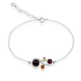 Bracelet Alexa Argent Blanc Ambre - Bracelets fantaisie Femme   Histoire d'Or