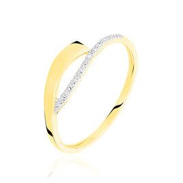 Bague Kataryna Or Jaune Diamant - Bagues avec pierre Femme | Histoire d'Or