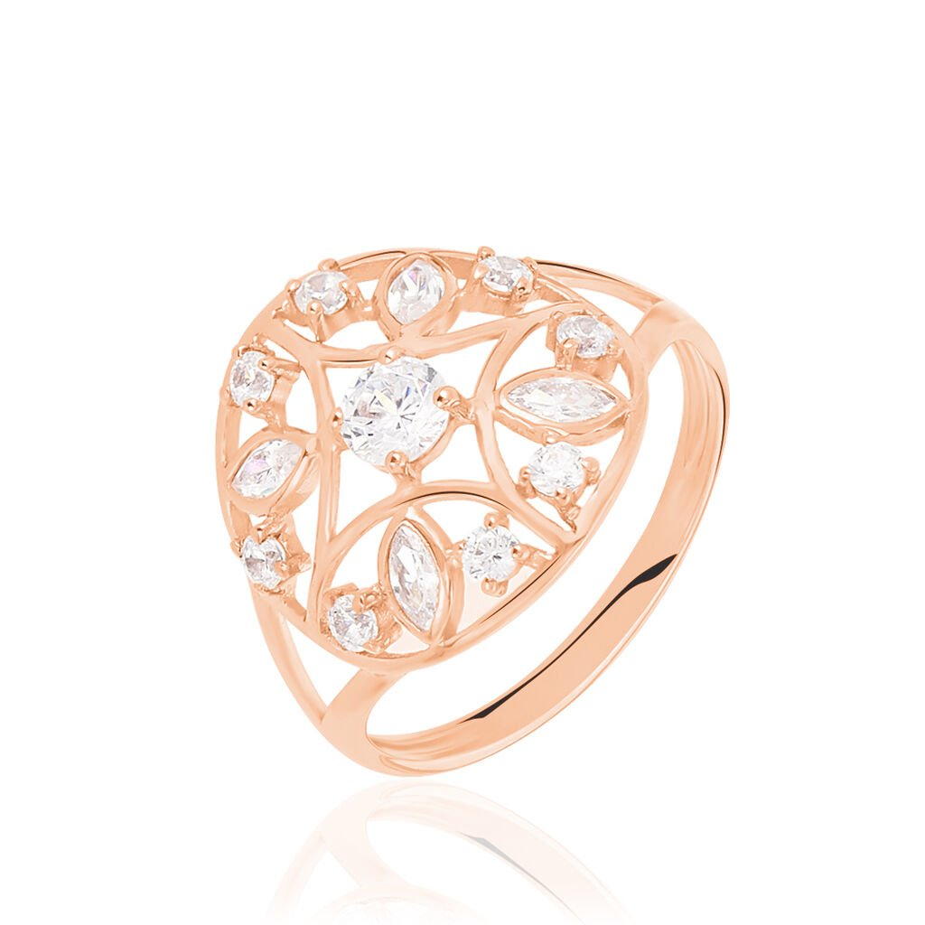 Bague Weena Or Rose Oxyde De Zirconium