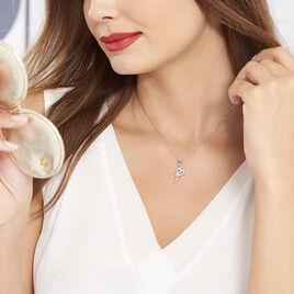 Collier Chérine Argent Blanc Oxyde De Zirconium - Colliers fantaisie Femme | Histoire d'Or