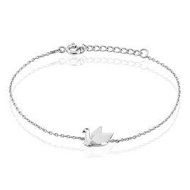 Bracelet Origami Argent Blanc - Bracelets fantaisie Femme   Histoire d'Or