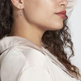 Boucles D'oreilles Pendantes Dennis Or Blanc Amethyste - Boucles d'oreilles pendantes Femme   Histoire d'Or