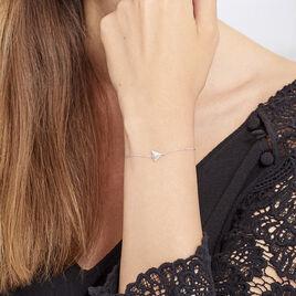 Bracelet Cleofa Argent Blanc Oxyde De Zirconium - Bracelets fantaisie Femme | Histoire d'Or