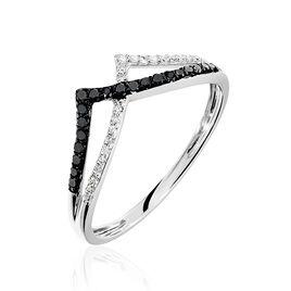 Bague Rabhia Or Blanc Diamant - Bagues avec pierre Femme | Histoire d'Or