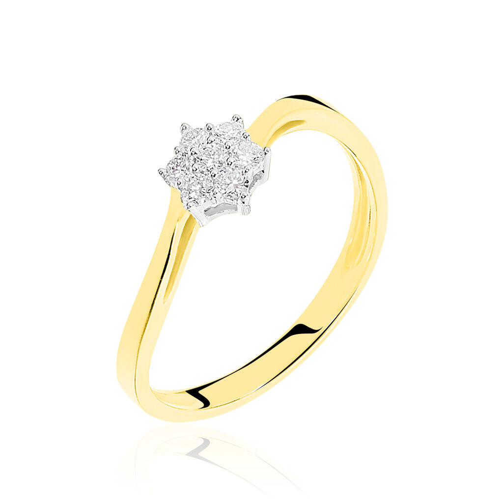 Bague Solitaire Cassiope Or Jaune Diamant - Bagues solitaires Femme   Histoire d'Or