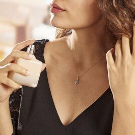 Collier Or Jaune Sagesse Topaze Oxydes De Zirconium - Bijoux Femme | Histoire d'Or