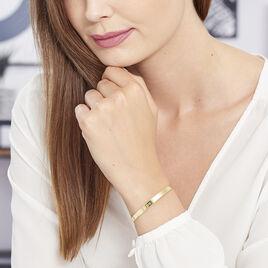 Bracelet Jonc Gravita Argent Jaune - Bracelets fantaisie Femme   Histoire d'Or