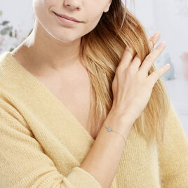 Bracelet Pia Argent Blanc - Bracelets Plume Femme | Histoire d'Or
