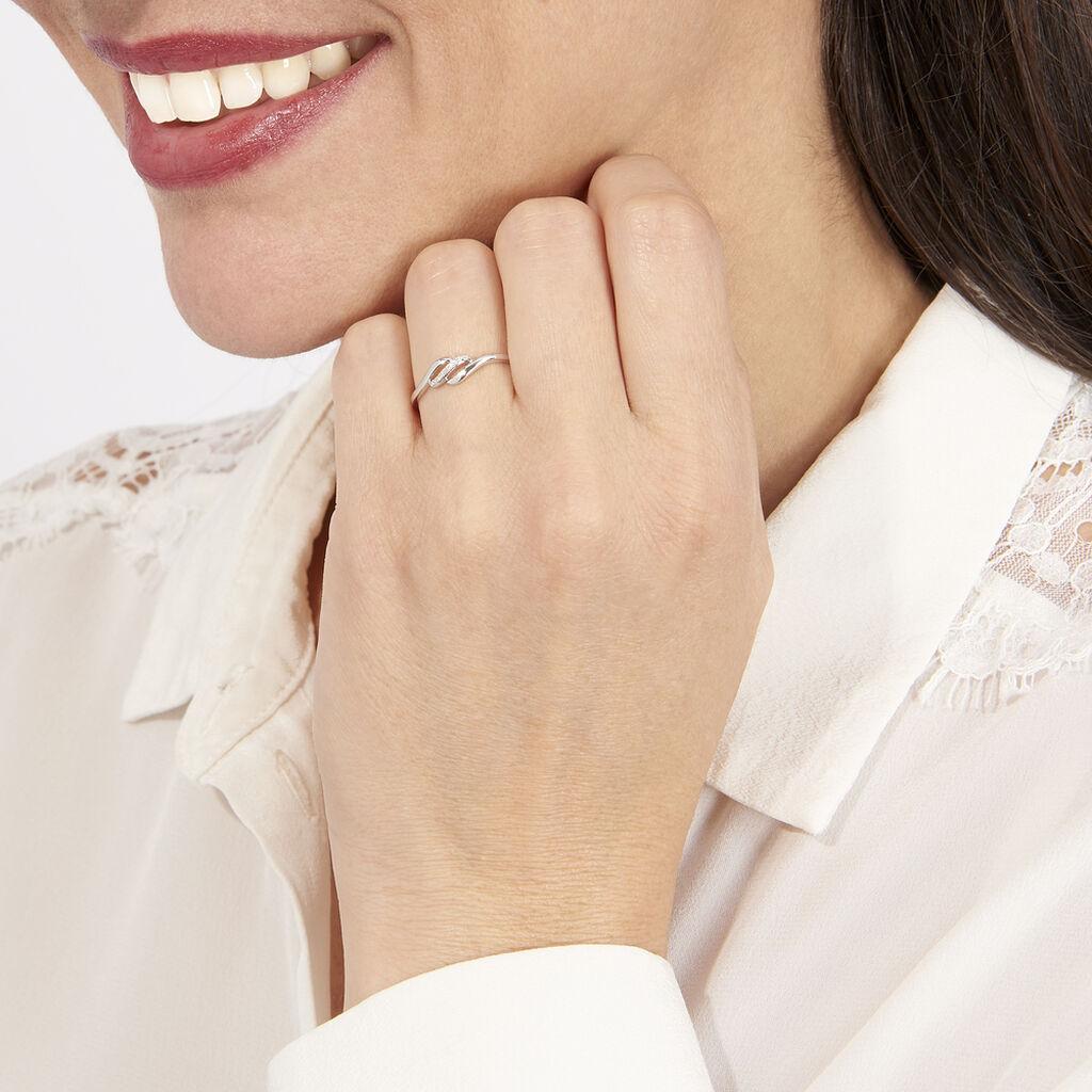Bague Tylane Or Blanc Diamant Divers - Bagues avec pierre Femme   Histoire d'Or