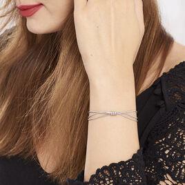 Bracelet Amaryllis Argent Blanc - Bracelets fantaisie Femme | Histoire d'Or