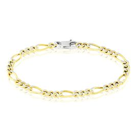 Bracelet Argent Jaune Scylla - Bracelets chaîne Femme | Histoire d'Or