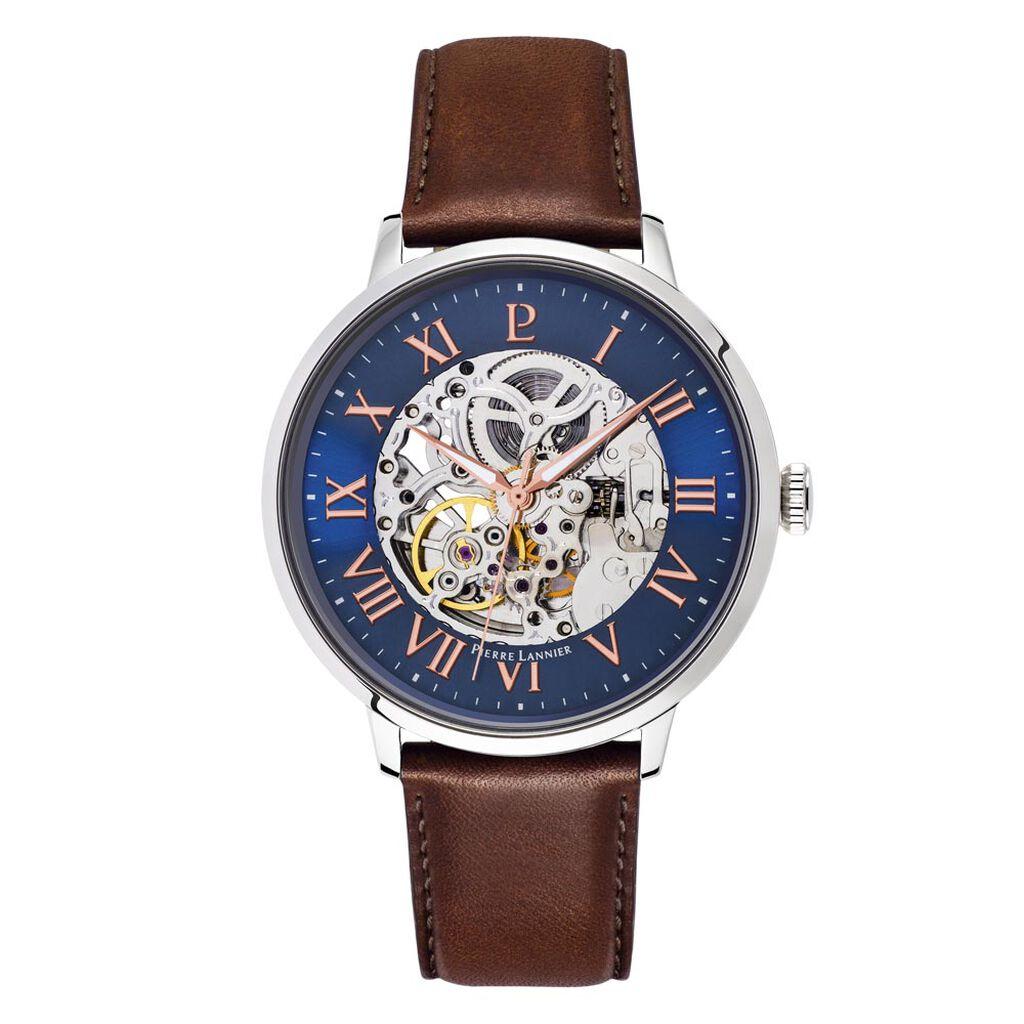 Coffret de montre Pierre Lannier Automatic Bleu - Montres Homme | Histoire d'Or