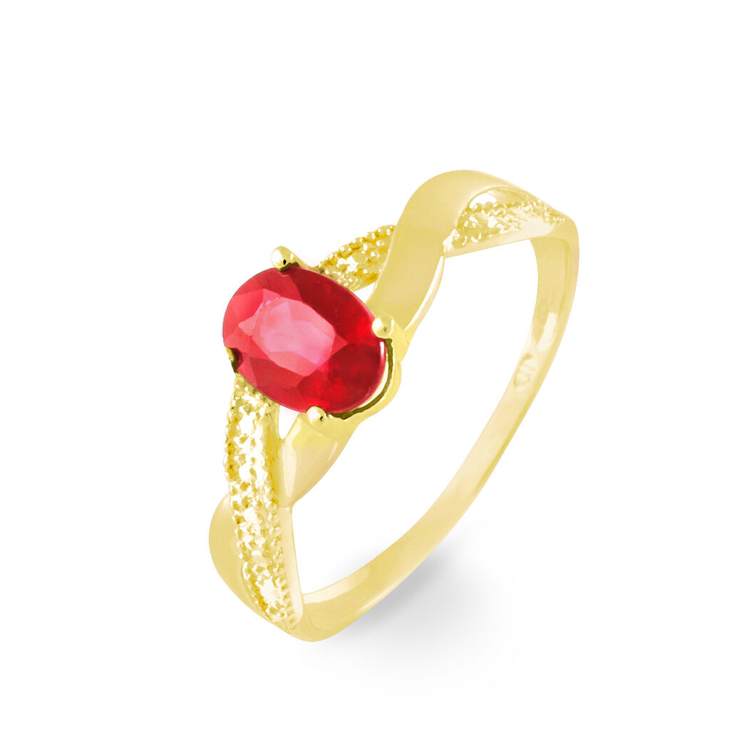 Bague Candice Or Jaune Rubis - Bagues avec pierre Femme | Histoire d'Or