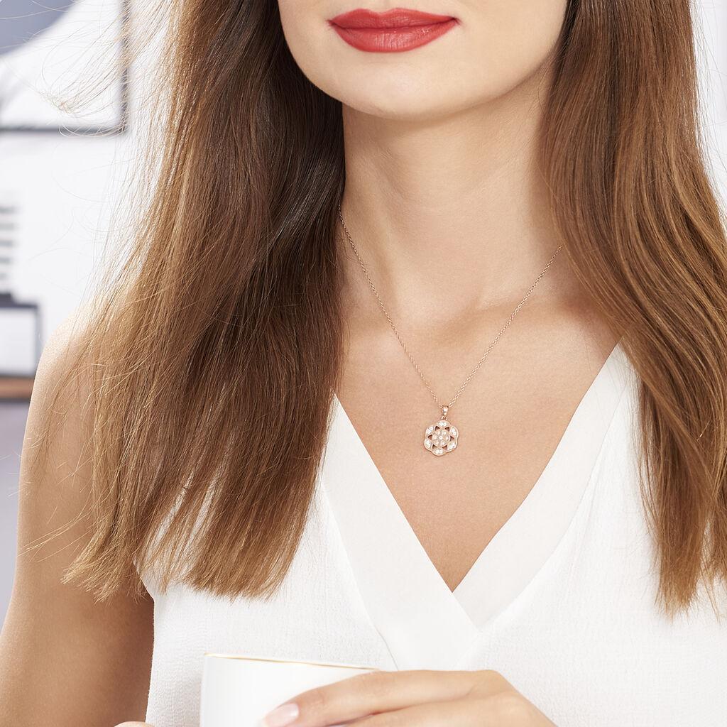 Collier Enoch Argent Blanc Oxyde De Zirconium - Colliers fantaisie Femme   Histoire d'Or