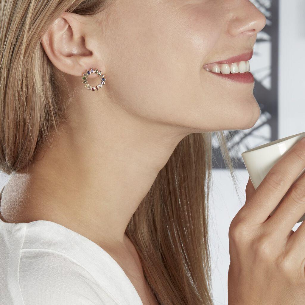 Boucles D'oreilles Pendantes Plaqué Or Jaune Ethem Pierres - Boucles d'oreilles fantaisie Femme   Histoire d'Or