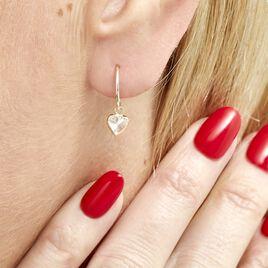 Créoles Chayma Or Jaune Oxyde De Zirconium - Boucles d'Oreilles Coeur Femme | Histoire d'Or