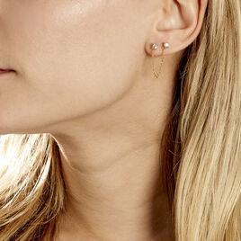 Bijoux D'oreille Unitaire Pendante Plaqué Or Jaune Dofi Oxyde - Boucles d'oreilles fantaisie Femme   Histoire d'Or