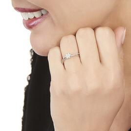 Bague Nusa Or Blanc Diamant - Bagues avec pierre Femme | Histoire d'Or