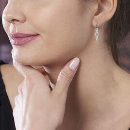 Boucles D'oreilles Pendantes Carla Argent Blanc Oxyde De Zirconium - Boucles d'oreilles fantaisie Femme   Histoire d'Or
