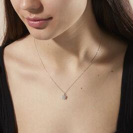 Collier Charlene Or Blanc Diamant Synthetique - Bijoux Femme | Histoire d'Or