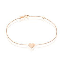 Bracelet Melodie Or Rose Oxyde De Zirconium - Bracelets Coeur Femme | Histoire d'Or