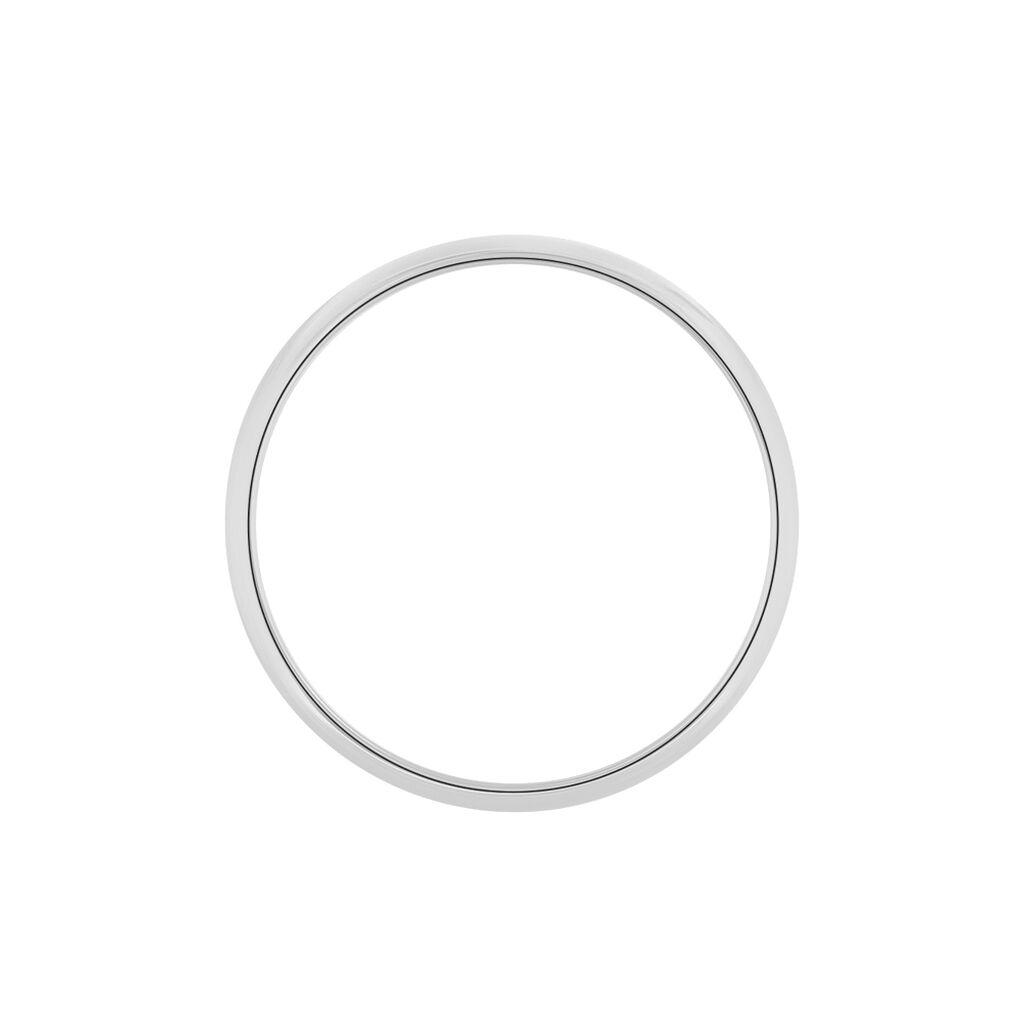 Alliance Aphrodite Demi Jonc Bombé Platine Blanc - Alliances Femme | Histoire d'Or