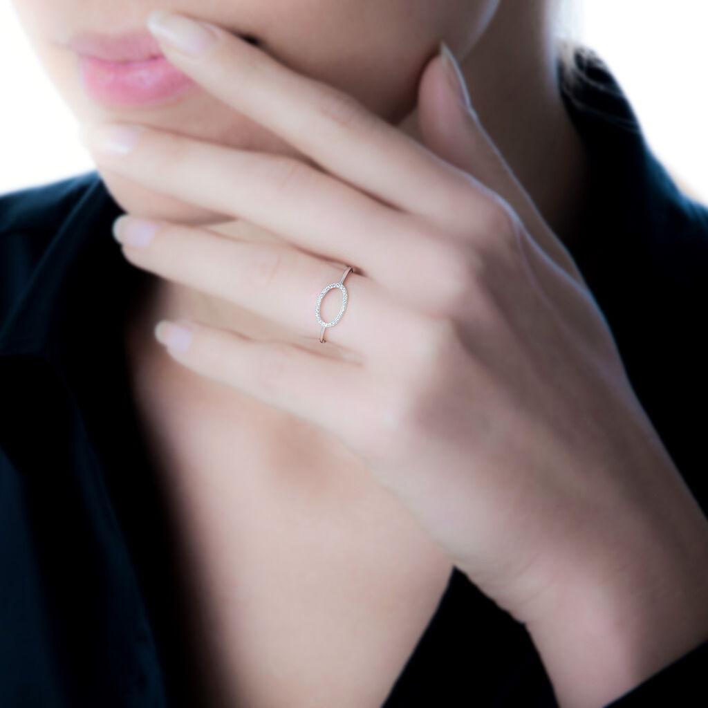 Bague Olya Or Blanc Diamant - Bagues avec pierre Femme   Histoire d'Or