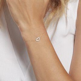 Bracelet Or Jaune  Vesunna - Bracelets Coeur Femme | Histoire d'Or