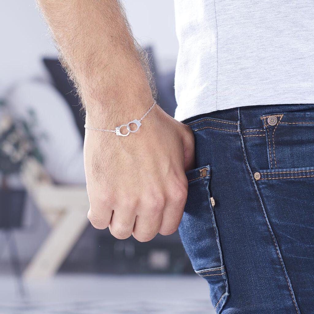 Bracelet Kim Argent Blanc - Bracelets fantaisie Homme | Histoire d'Or