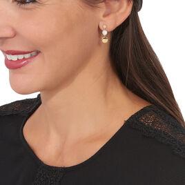 Boucles D'oreilles Pendantes Yvelyne Or Jaune Oxyde De Zirconium - Boucles d'oreilles pendantes Femme   Histoire d'Or