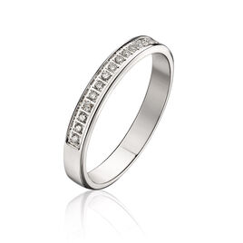 Alliance Amber Or Blanc Diamant - Alliances Femme   Histoire d'Or