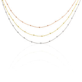 Collier Daralea Argent Tricolore - Colliers fantaisie Femme | Histoire d'Or